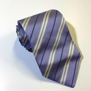 Burberry men's light purple stripe 100% silk tie
